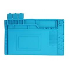 Manta de Isolamento S160 V2 em Silicone Resistente ao Calor com Porta Objetos para Manutenção de Eletrônicos 450x300mm