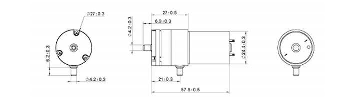 Bombinha de Vácuo 12V / Bombinha de Ar AJK-B2703 1.8L/Min