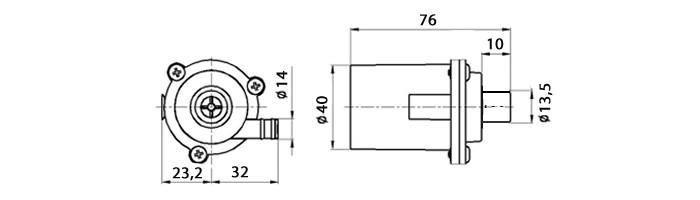 Mini Bomba de Água Submersa 12V CP40A Brushless 8L/Min