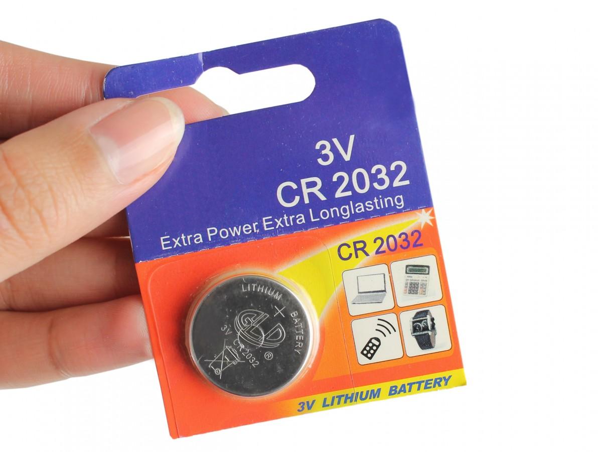 Bateria CR2032 3V de Lithium / Pilha CR2032 - GLD