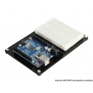 Base Acrílica para Arduino UNO + Protoboard e Parafusos Metálicos