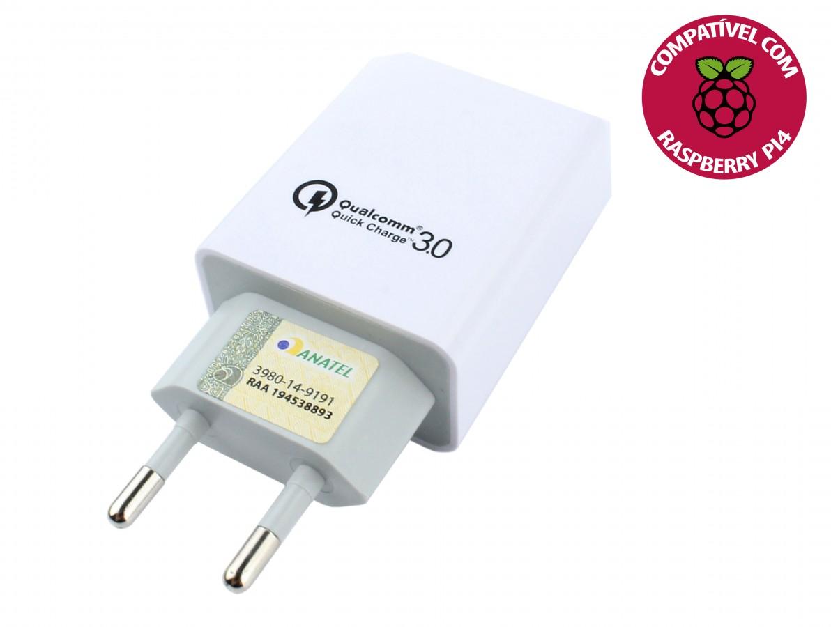 Teste da Fonte para Raspberry Pi 4 USB 5V 4.2A