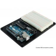 Base Acrílica para Arduino UNO + Protoboard e Parafusos Plásticos
