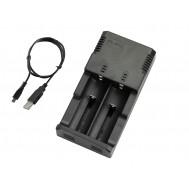 Carregador de Bateria 18650 Duplo 3.7V a 4.2V