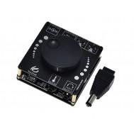 Mini Amplificador de Som XY-AP50L Estéreo 2 Canais 50W + 50W com Bluetooth 5.0