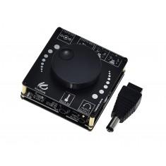 Mini Amplificador de Som XY-AP15H Estéreo 2 Canais 20W + 20W com Bluetooth 5.0