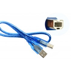 Cabo USB AB 30cm para Arduino Uno, Uno SMD, Mega e ADK