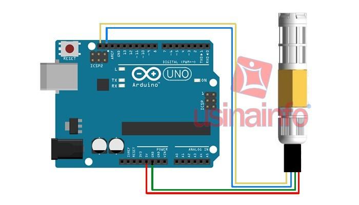 Sensor de Umidade do Solo SHT20 com Sensor de Temperatura + Encapsulamento IP65
