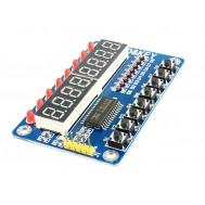 Módulo Display 7 Segmentos TM1638 com 8 Leds e 8 Push Buttons