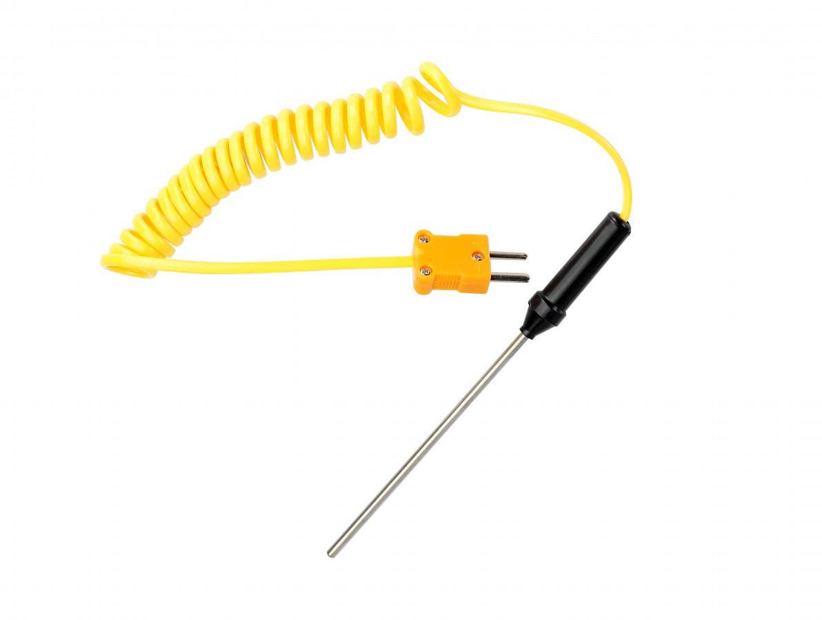 Sensor Termopar tipo K com sonda em aço inoxidável