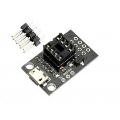Módulo Programador Attiny85, Attiny13A, Attiny25 e Attiny45 com Micro USB