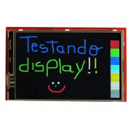 "TFT LCD 3.95"" Shield Arduino Touch Screen com Slot SD"