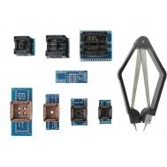 Kit de Adaptadores SOP8, SOP16 e PLCC para Gravador de Bios Eeprom + Extrator - Kit com 9 Unidades