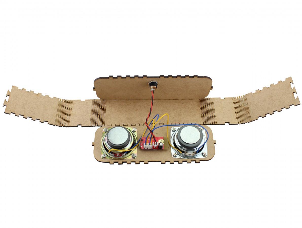 Caixa de Som Portátil Bluetooth DIY em MDF 6W RMS + Fonte de Alimentação - JB10