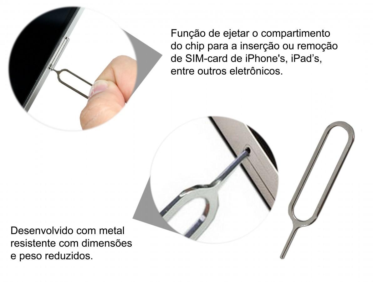 Chave pin para a abertura da bandeja do chip-SIM de iPhone's e iPad's
