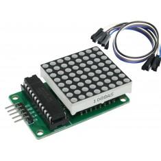 Módulo Matriz de LED 8X8 Vermelho MAX7219 + Jumpers