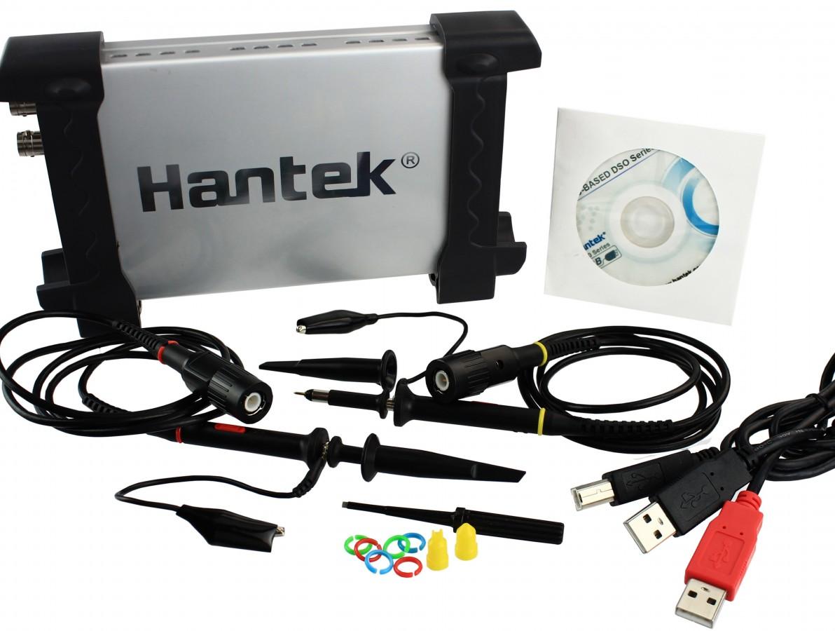 Osciloscópio Digital Portátil 20MHz 2 canais - Hantek6022BE