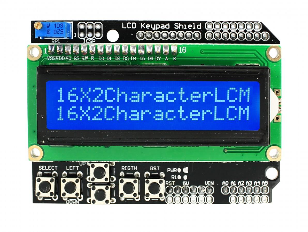 Shield LCD 16x2 / LCD Keypad Shield com botões para Arduino