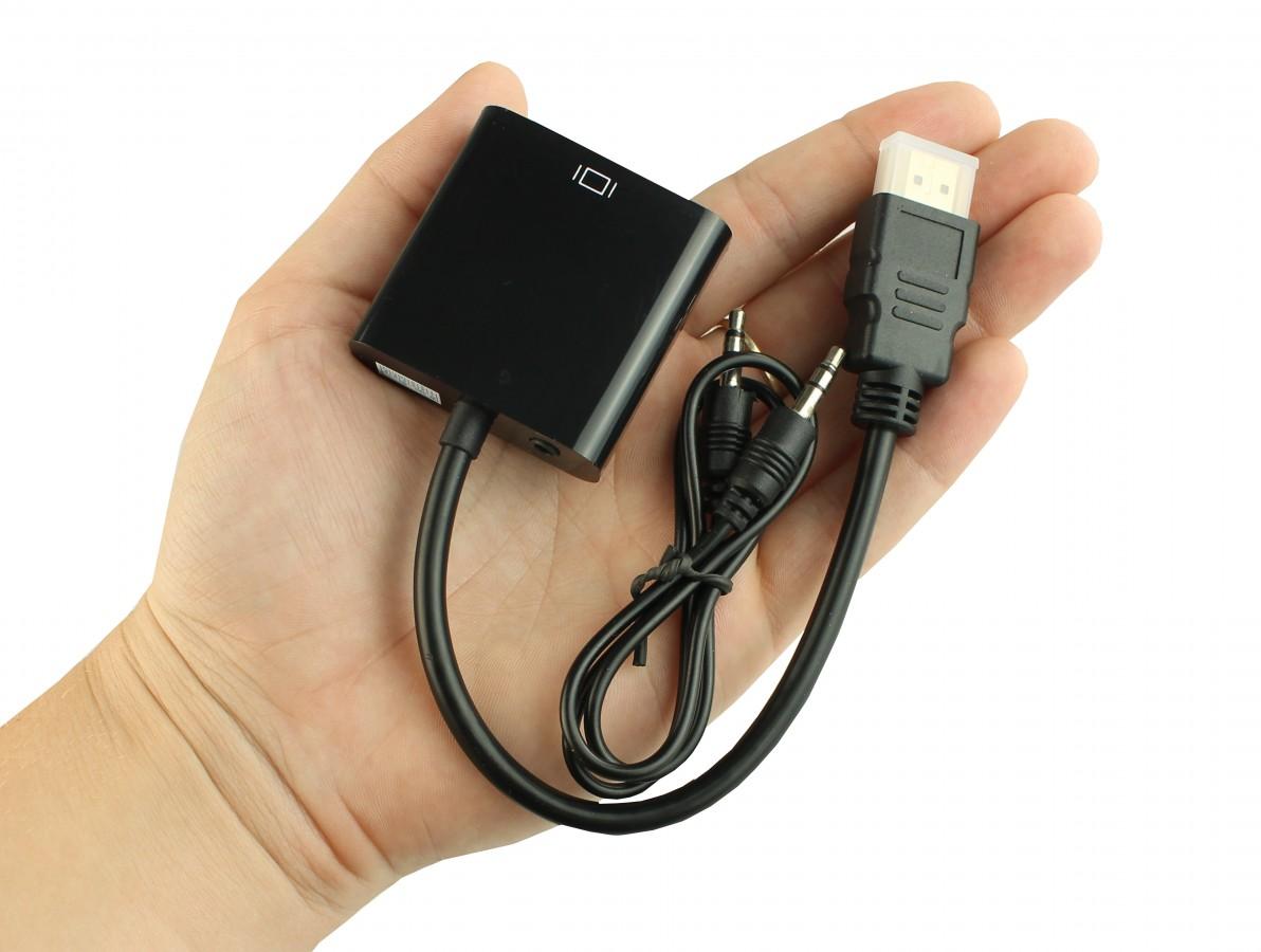 Adaptador HDMI para VGA com Saída de Áudio e Chip Conversor Integrado