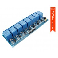 Módulo Relé 5V 10A 8 Canais com Optoacopladores - OUTLET