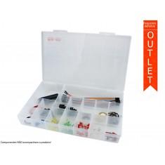 Caixa Organizadora 30x19,5x4,8cm com 16 Divisórias Grande - OUTLET