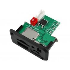 Decodificador MP3 Estéreo 5V - 12V com Micro SD, USB e Receptor IR - CT09