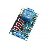 Relé Temporizador Digital XY-J02 Ajustável com Display e Micro USB - 4 Modos de Uso