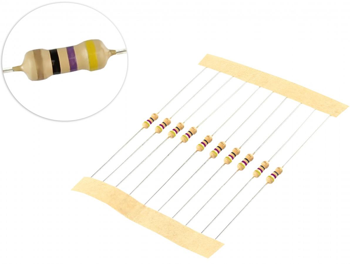 Resistor 47R 1/4 - Kit com 10 unidades
