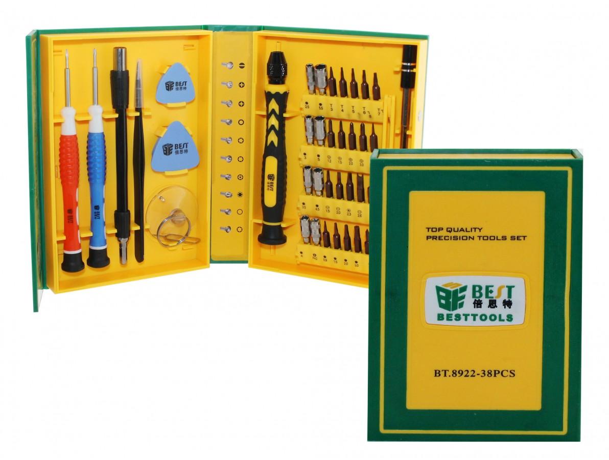Kit de chaves ideal para celulares, smartphones 38 peças - Best BT8922