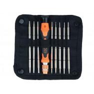 Kit de Chaves Profissionais para iPhones e Smartphones / Chave Torx, Pentalobe, Philips, Fenda, Allen e outras + Estojo - JM8124