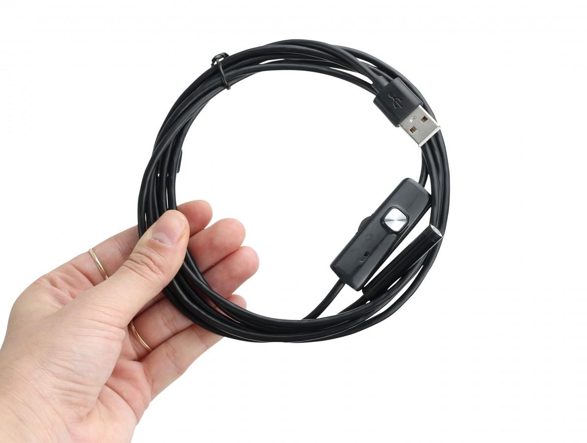 Câmera Endoscópica 7mm / Endoscópio USB e Micro USB com 6 Leds a Prova D'Água para Windows e Android - CE20Plus
