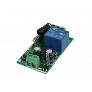 Módulo Relé Para Controle Remoto 433MHz 10A 1 Canal - Compatível com Controle EV1527