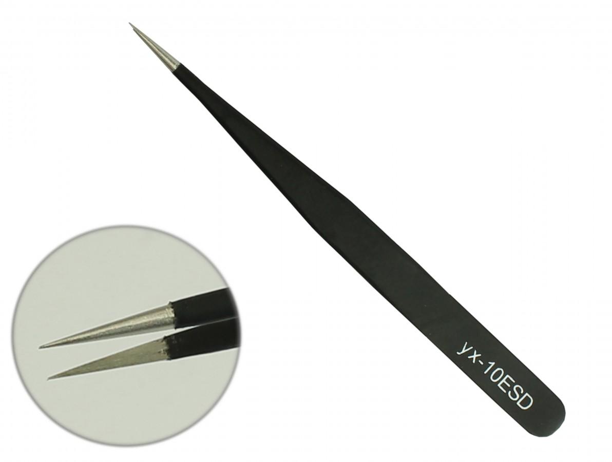 Pinça Antiestática ESD com Revestimento Epóxi 110mm - ESD10