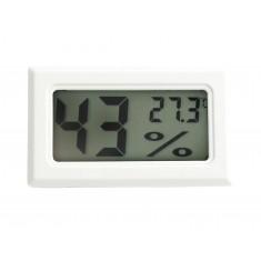 Mini Termo Higrômetro Digital com Sensor de Temperatura e Umidade - Branco