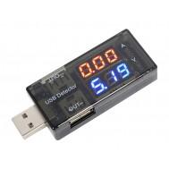 Testador USB com Amperímetro, Voltímetro e Conexão 180°