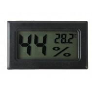 Mini Termo Higrômetro Digital com Sensor de Temperatura e Umidade - Preto