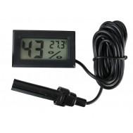 Mini Termo Higrômetro Digital com Sonda Externa / Sensor de Temperatura e Umidade