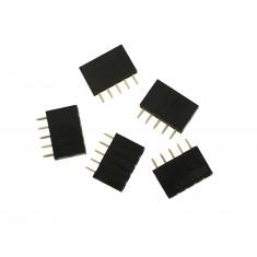 Barra de 5 Pinos 2,54mm Fêmea / Conector Empilhável para PCI - Kit com 5 unidades