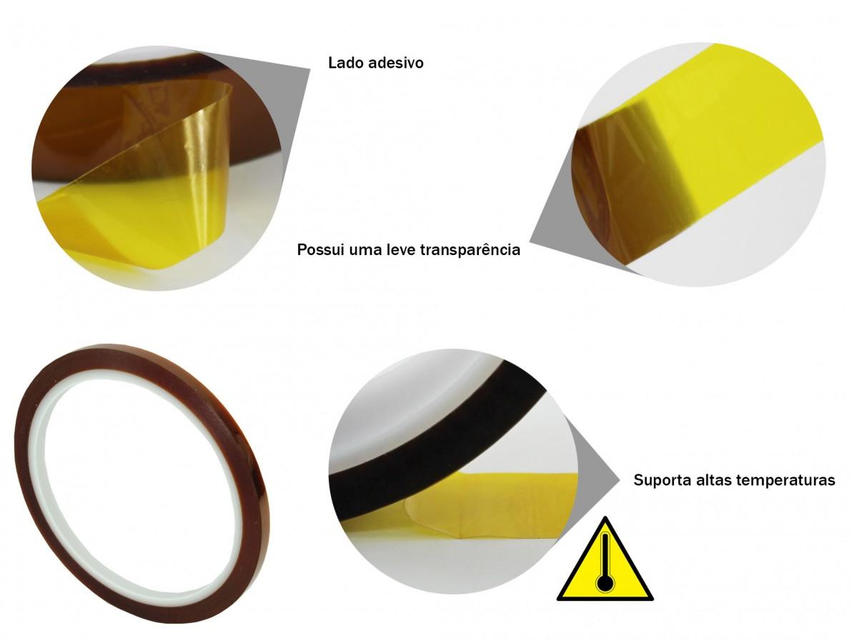Fita kapton de poliamida resistente a altas temperaturas - 33m x 5mm