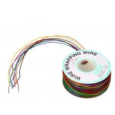 Fio Wire Wrap 30AWG Colorido 8 Cores - Rolo com 200 metros