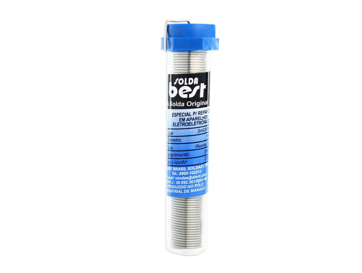 Estanho para solda / Fio de solda 1.0mm - Tubo de 25g - Best 183 MSX10