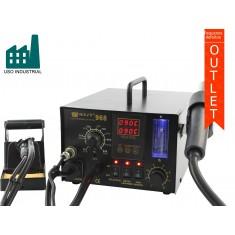 Estação de Solda com Estação de Retrabalho e Sugador de Fumaça - Best 968 - Uso Industrial 220V