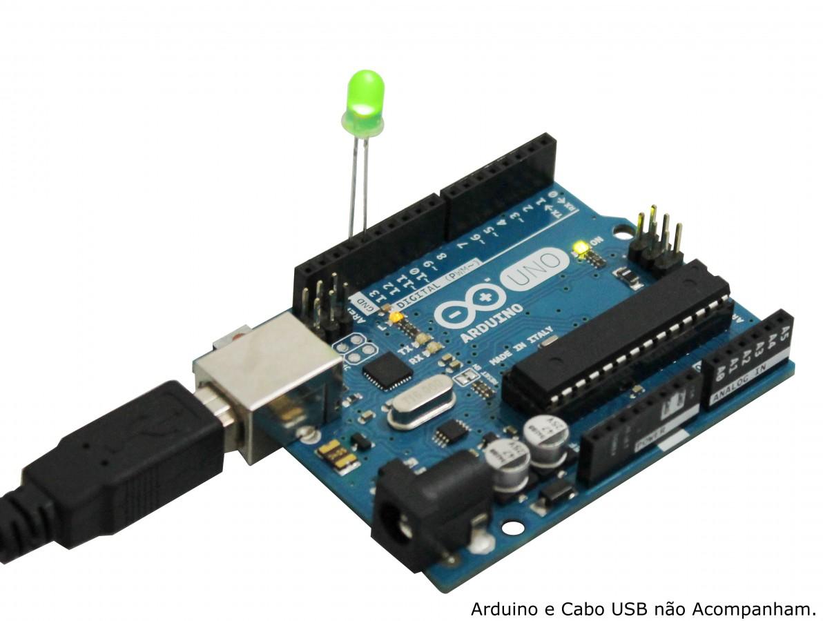 Kit com 50 LEDs Verdes 5mm Difusos