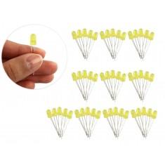 Kit com 50 LEDs Amarelos 5mm Difusos