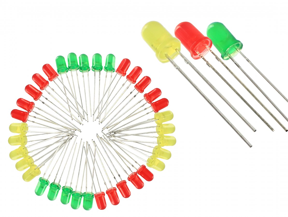 Kit com 50 LEDs Diversos 5mm Difusos