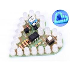 Kit Coração de Led Pulsante DIY 4V a 6V para Aprendizagem Eletrônica HBL22 - Azul