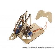Estrutura em MDF para Braço Robótico Arduino + Manual de Montagem