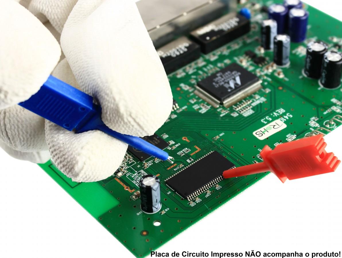 Garra para Testes em CI e Chip SMD