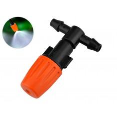 Bico Nebulizador com Ajuste de Vazão + Conector T 1/4