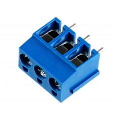 Conector Borne KRE 12mm 3 vias azul